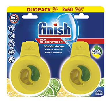 Finish Lavavajillas Ambientador Limón 60 lavados: Amazon.es ...