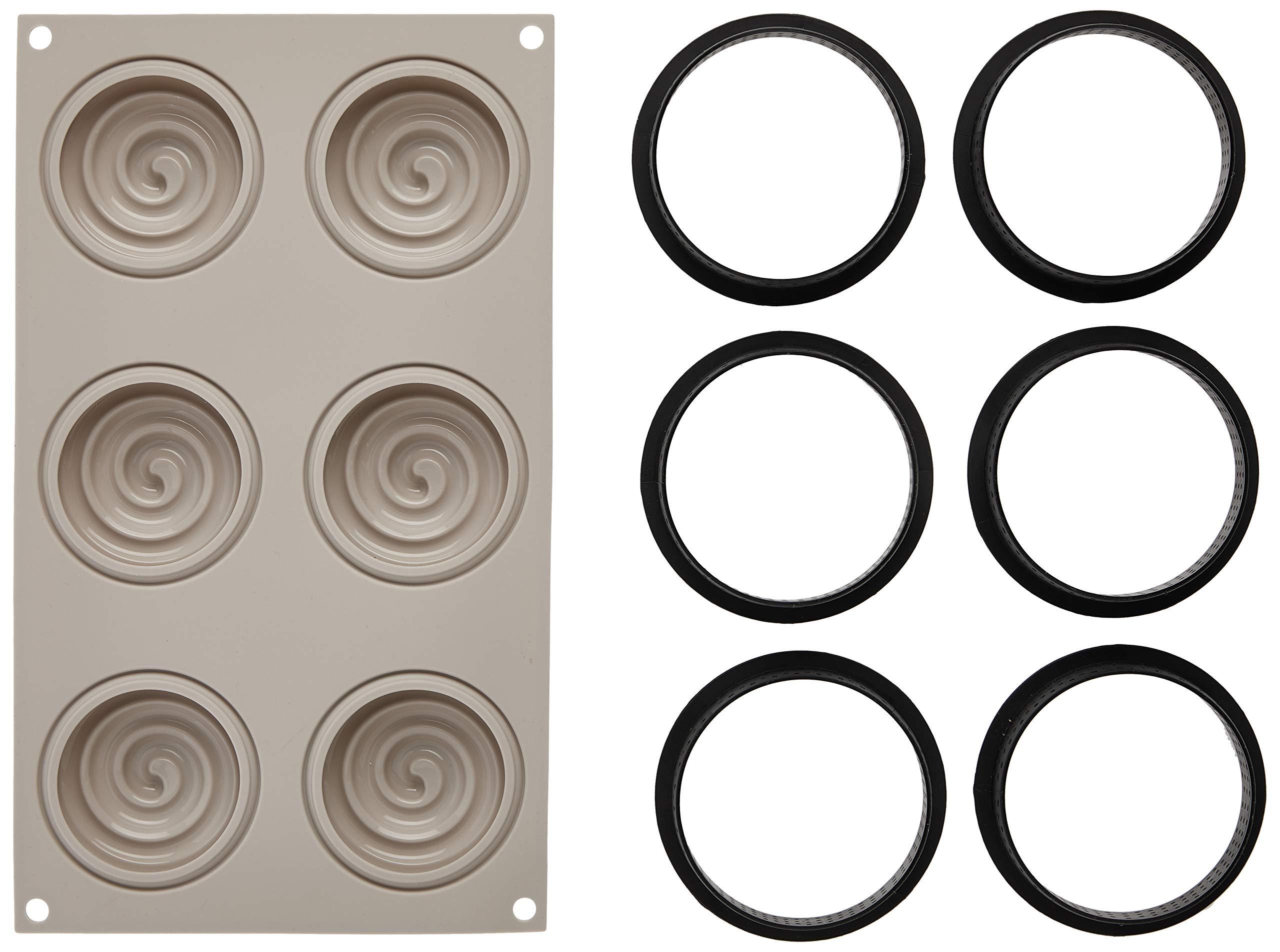 100% Platinum Silicone - 3D Mould -Kit Mini Tarte Twist by Silikomart (Image #2)