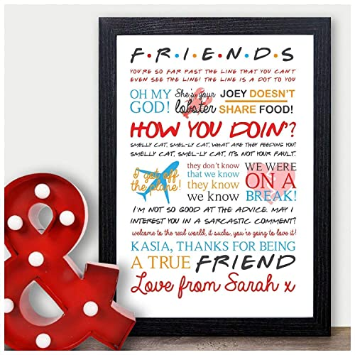 Personalised Friends Tv Show Quotes Birthday Gift Present Sign Home
