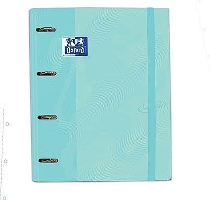 Carpeta con recambio Europeanbinder A4+ Oxford Touch color Ice Mint Pastel: Amazon.es: Oficina y papelería