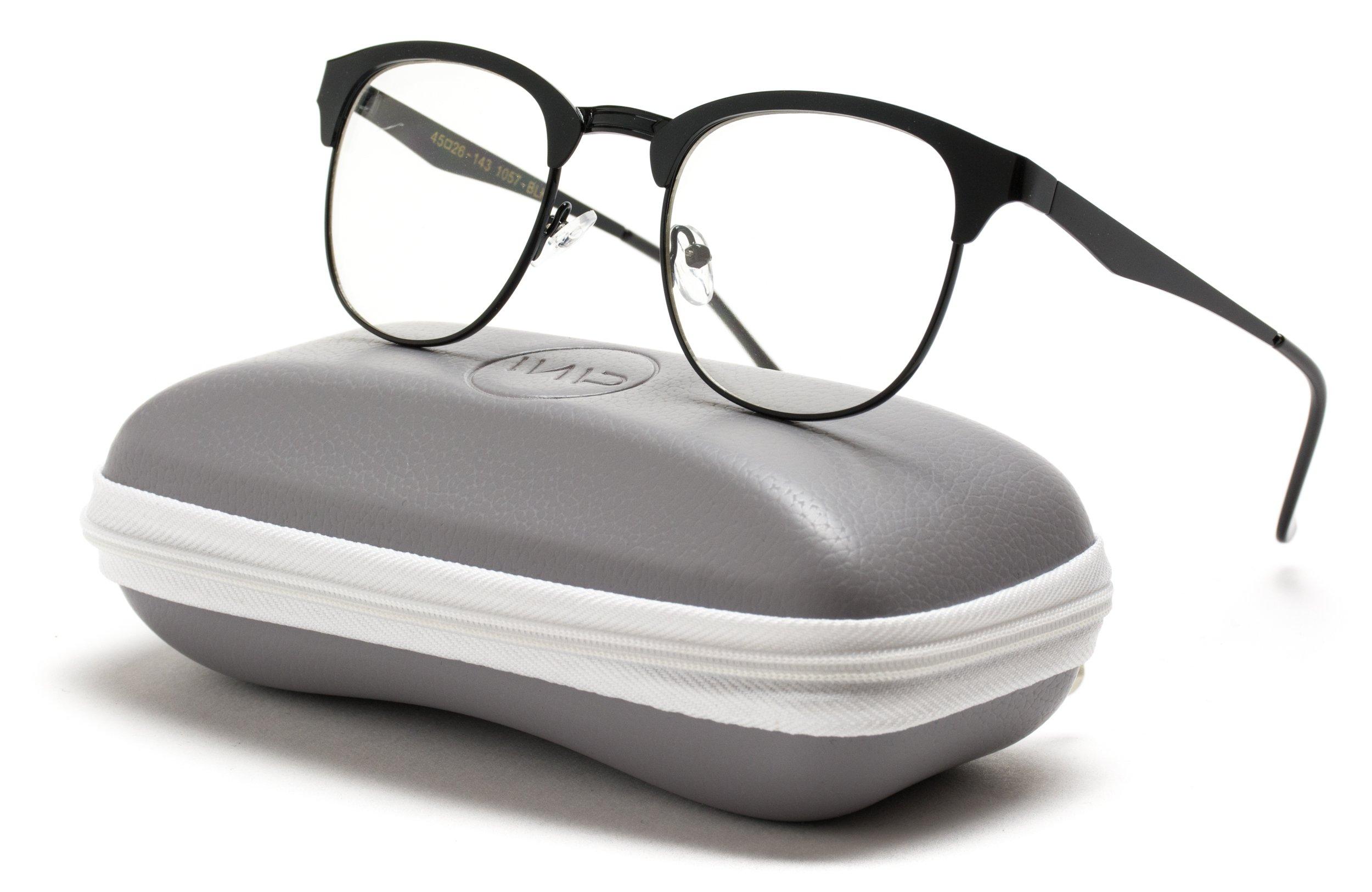 f7968f91c26 WearMe Pro - Metal Frame Modern Clear Lens Non-Prescription Glasses ...