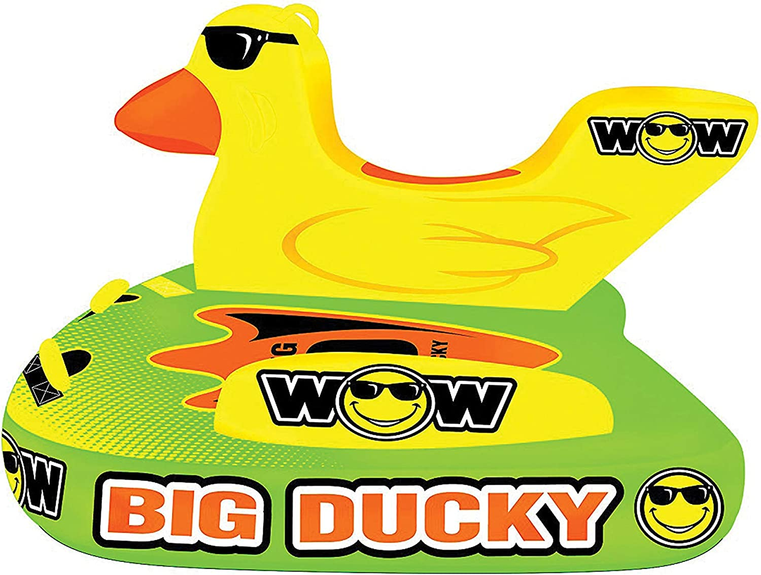 WOW World of Watersports Big Ducky 1 2 or 3 Person Inflatable Towable Deck Tube for Boating | 18-1140