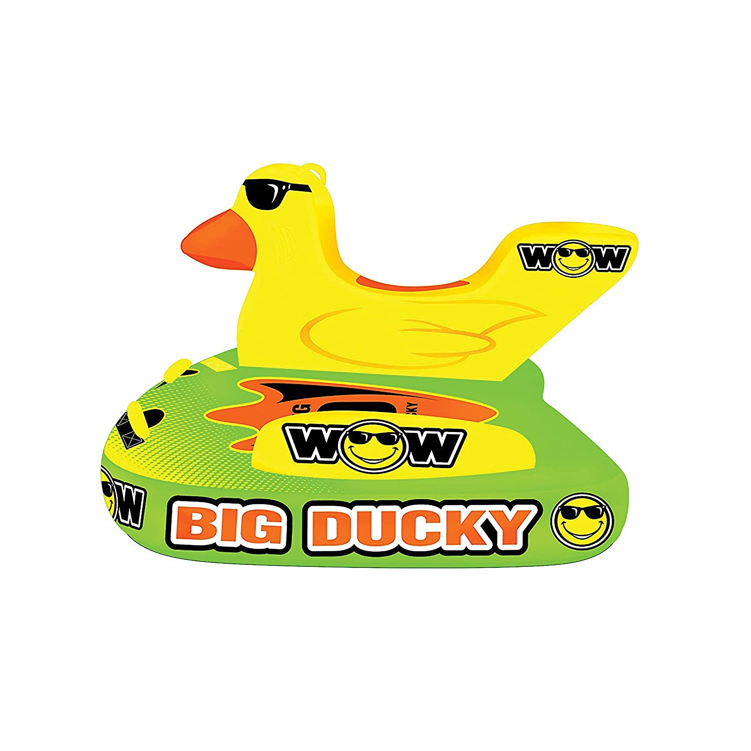 Wow World Of Watersports Big Ducky 1 2 Or 3 Person Inflatable Towable Deck Tube For Boating