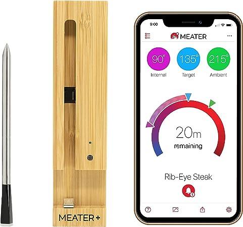 MEATER Plus | 50m Termómetro inalámbrico inteligente para carne para el horno, parrilla de cocina, barbacoa, ahumador, asador con Bluetooth y conectividad digital WiFi: Amazon.es: Hogar