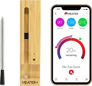 MEATER Plus | 165ft Long Range Smart Wireless Meat Thermometer for The Oven Grill Kitchen BBQ Smoker Rotisserie with Bluetooth and WiFi Digital Connectivity