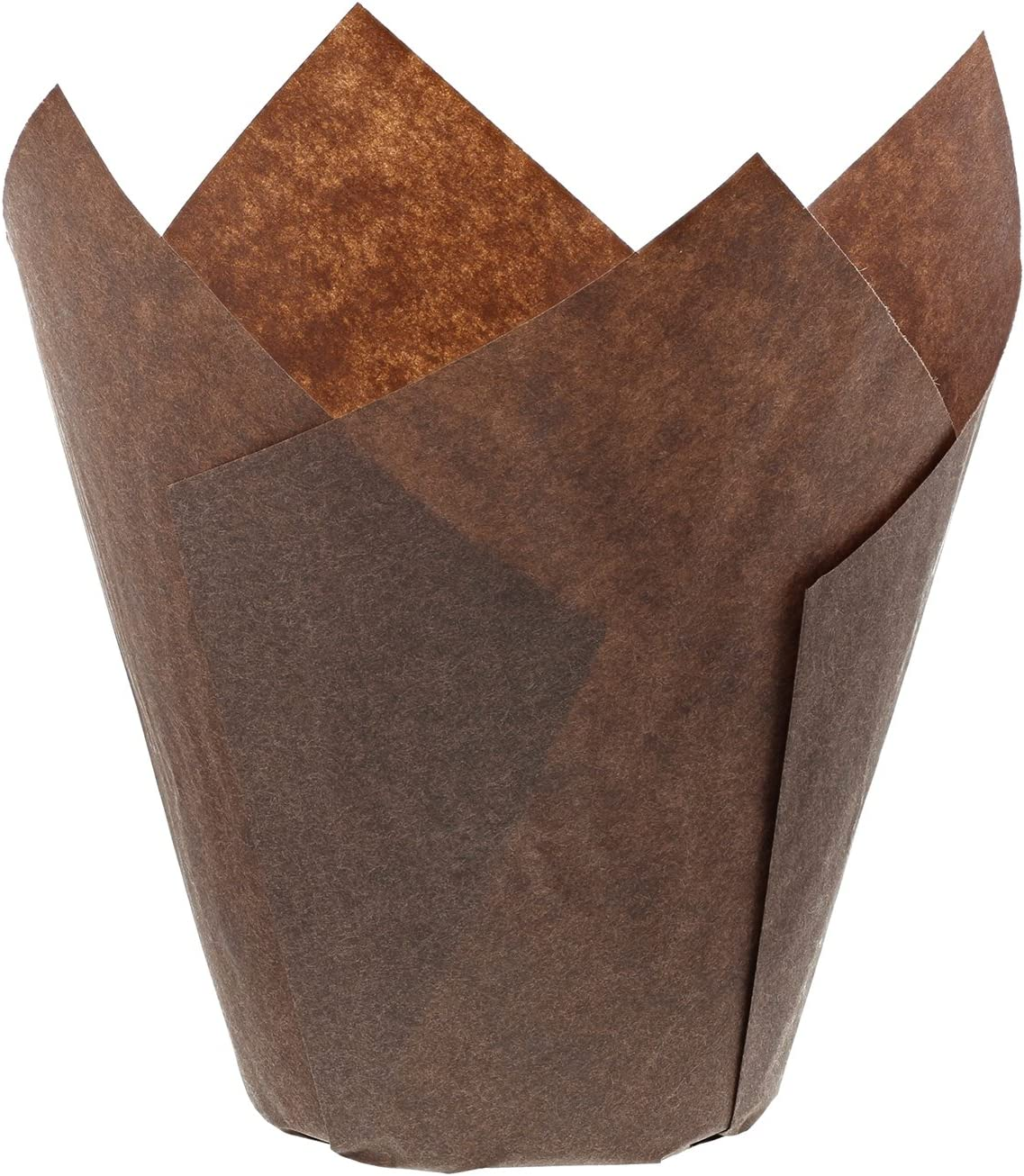 New products world's highest quality popular Royal Brown Tulip Style Baking Cups Sleeve of Large All items in the store 200