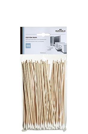 Durable - Bastoncillos largos de algodón (100 unidades): Amazon.es ...