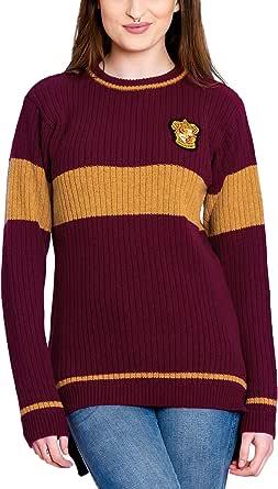 Harry Potter Quidditch de Gryffindor suéter de Lana de Cordero ...