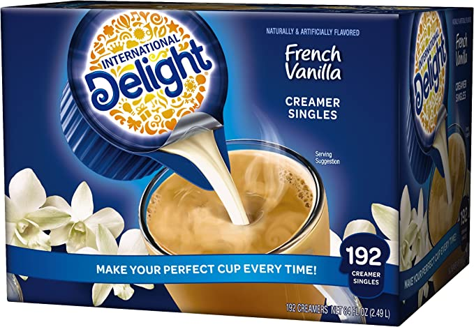 International Delight French Vanilla Liquid Creamer 192 Count Single Serve P