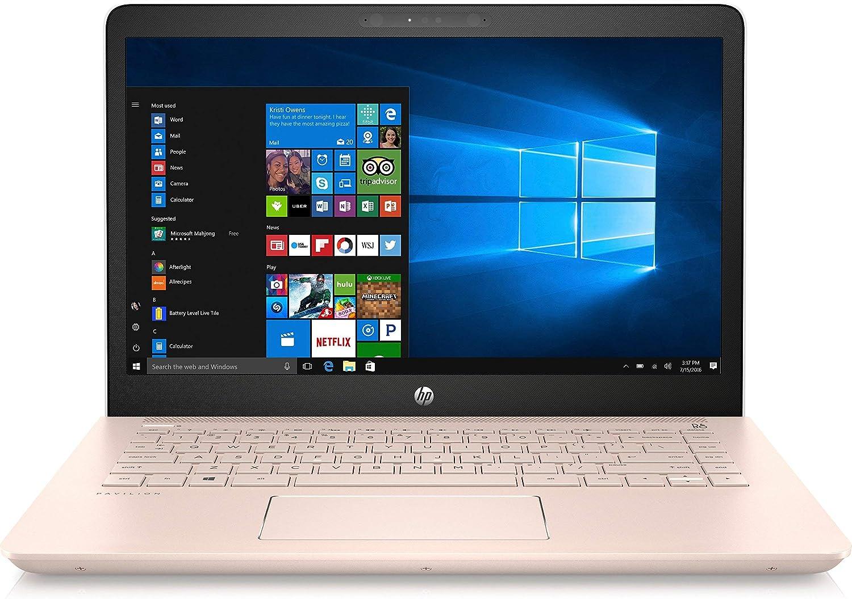 Hp Pavilion 14 Inch Laptop White Rose Gold Intel Core I3 7100u Processor 8gb Ram 128gb Ssd Bluetooth 4 2 Nfc B O Play Hd Webcam Windows 10 64 Bit Renewed Amazon Co Uk Computers