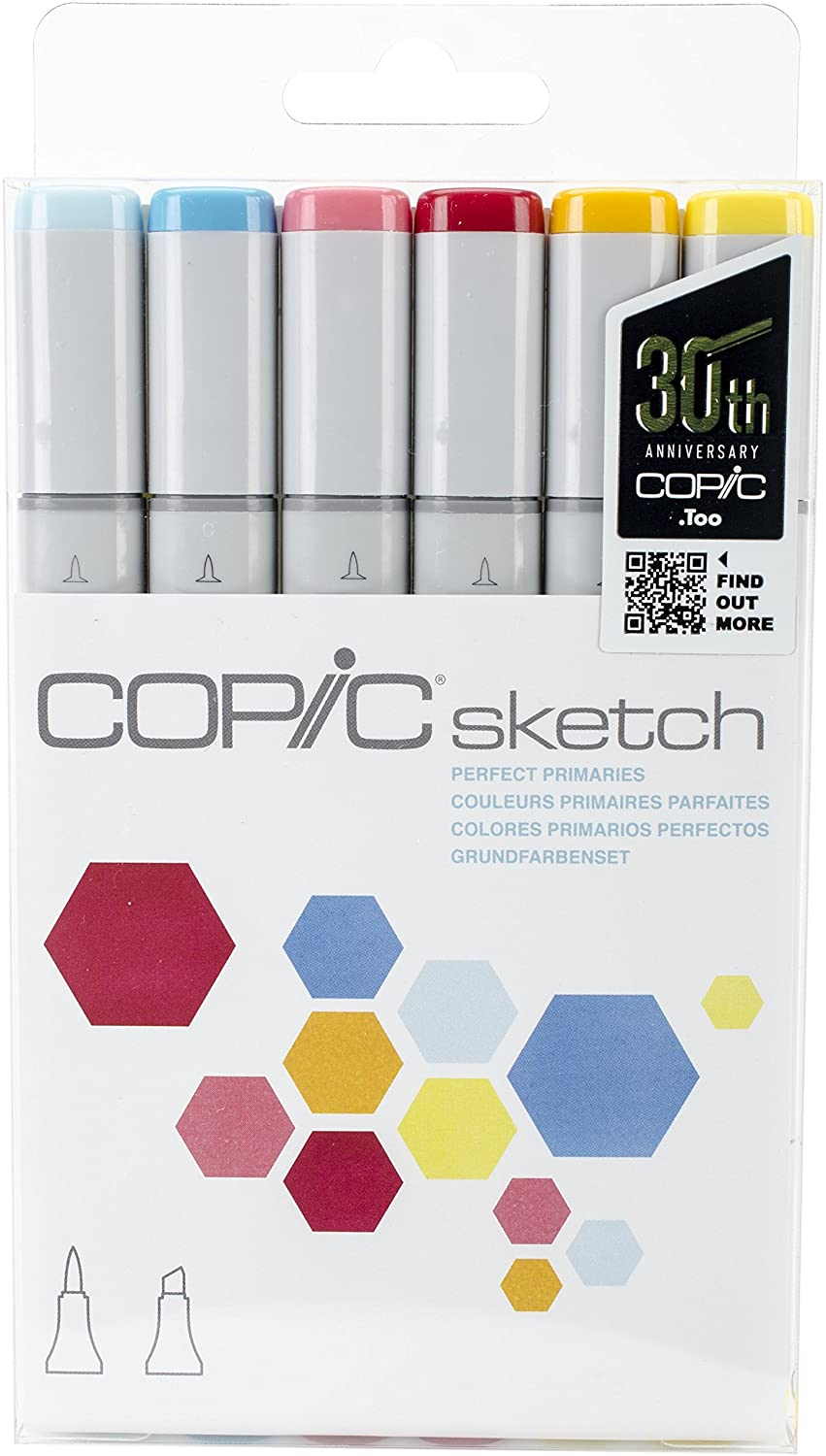 Copic Marker SKST6-EARTH Sketch Markers 6-Pack Earth Essentials