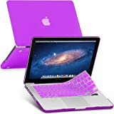 GMYLE 2 in 1 Bundle Deep Purple Soft-Touch Frosted Hard Case for for Old MacBook Pro 13 inch with CD-ROM (Model: A1278) [2009-2014 Release] with Purple Silicon Keyboard Cover [US layout]