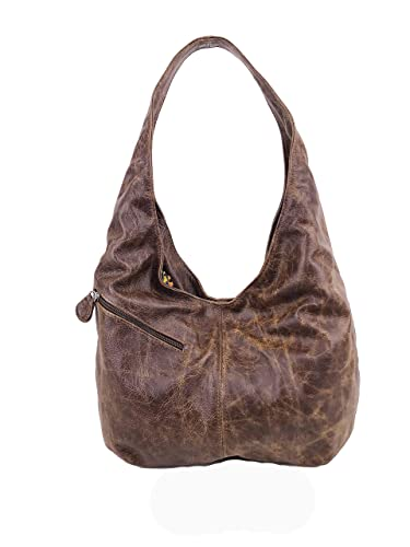 5c55ae76c9 Amazon.com  Fgalaze Distressed leather Hobo Bag with Pockets
