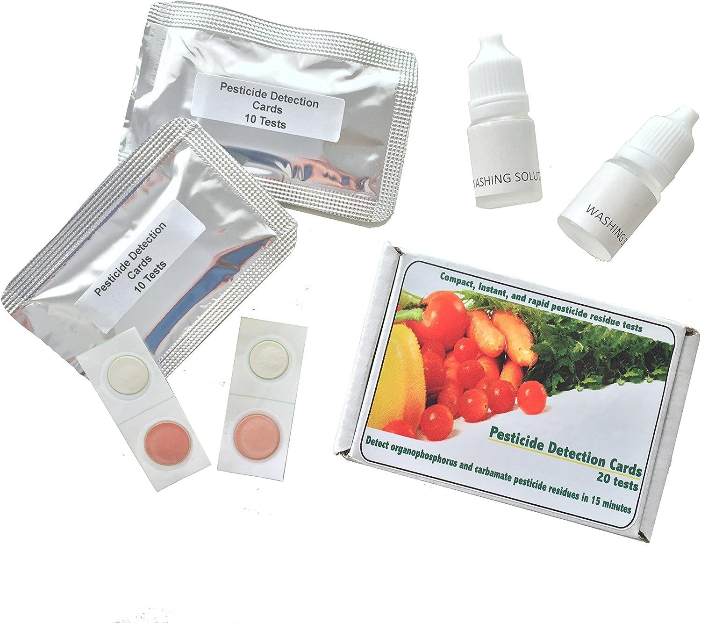 Pesticide Test Strips by RenekaBio, Pesticide Test Kit, Pesticide Testing Equipment, Home Use Science Fair Projects Vegetables Fruits Marijuana 20 test