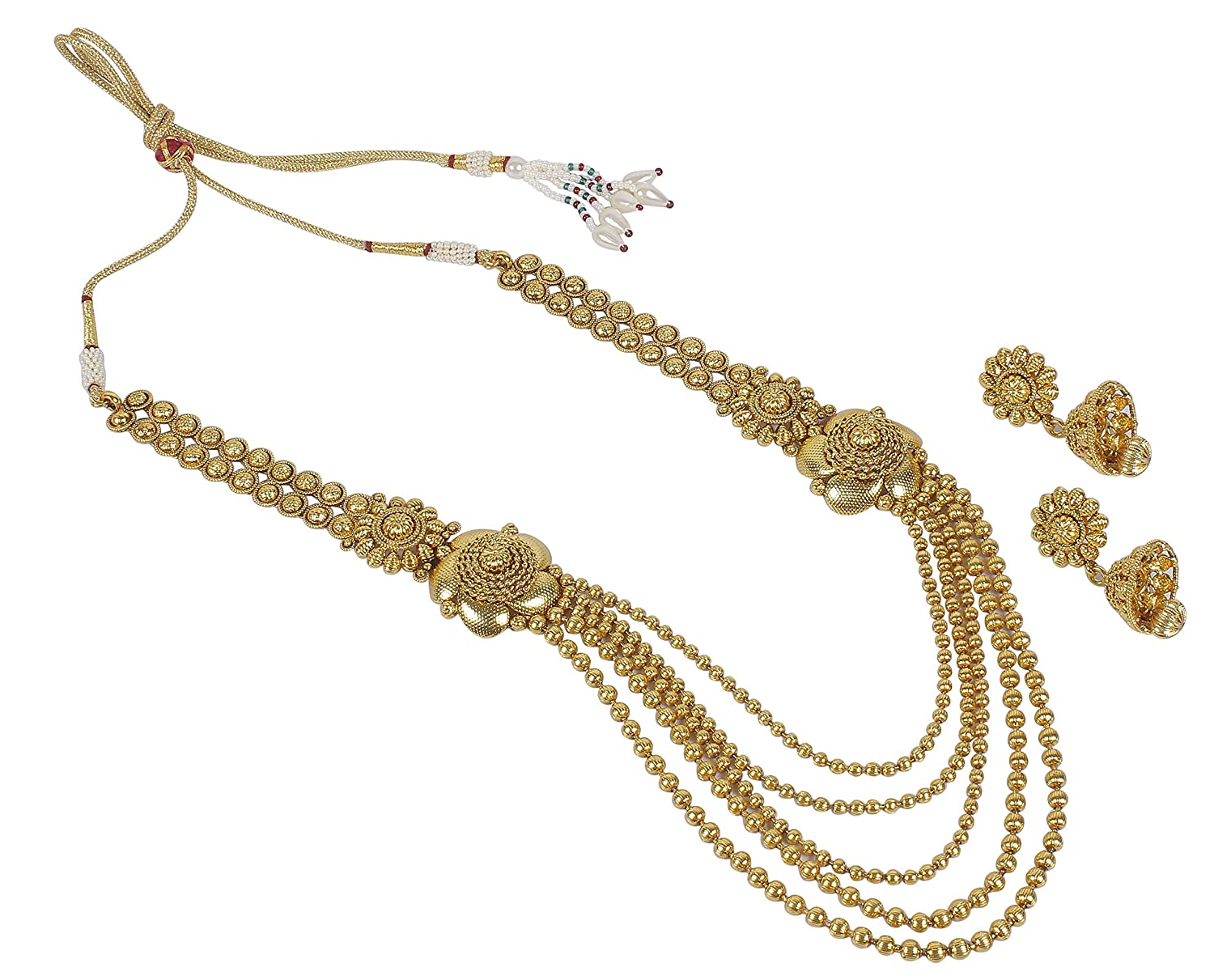 Buy MUCH MORE Fully 22k Gold Plated Long Rani Haar for Women ...