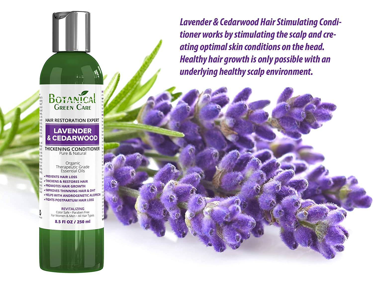 "Hair Growth Anti-Hair Loss CONDITIONER ""Lavender & Cedarwood"". Alopecia Prevention and DHT Blocker. Doctor Developed. NEW 2018 FORMULA!"
