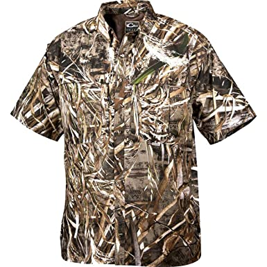 8460fbe9 Image Unavailable. Image not available for. Color: Drake Short Sleeve  Vented Wingshooters Casual Shirt (Realtree Max-5) ...