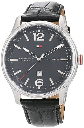 832143df8bf Tommy Hilfiger Homme Analogique Classique Quartz Montres bracelet avec  bracelet en Cuir - 1710314