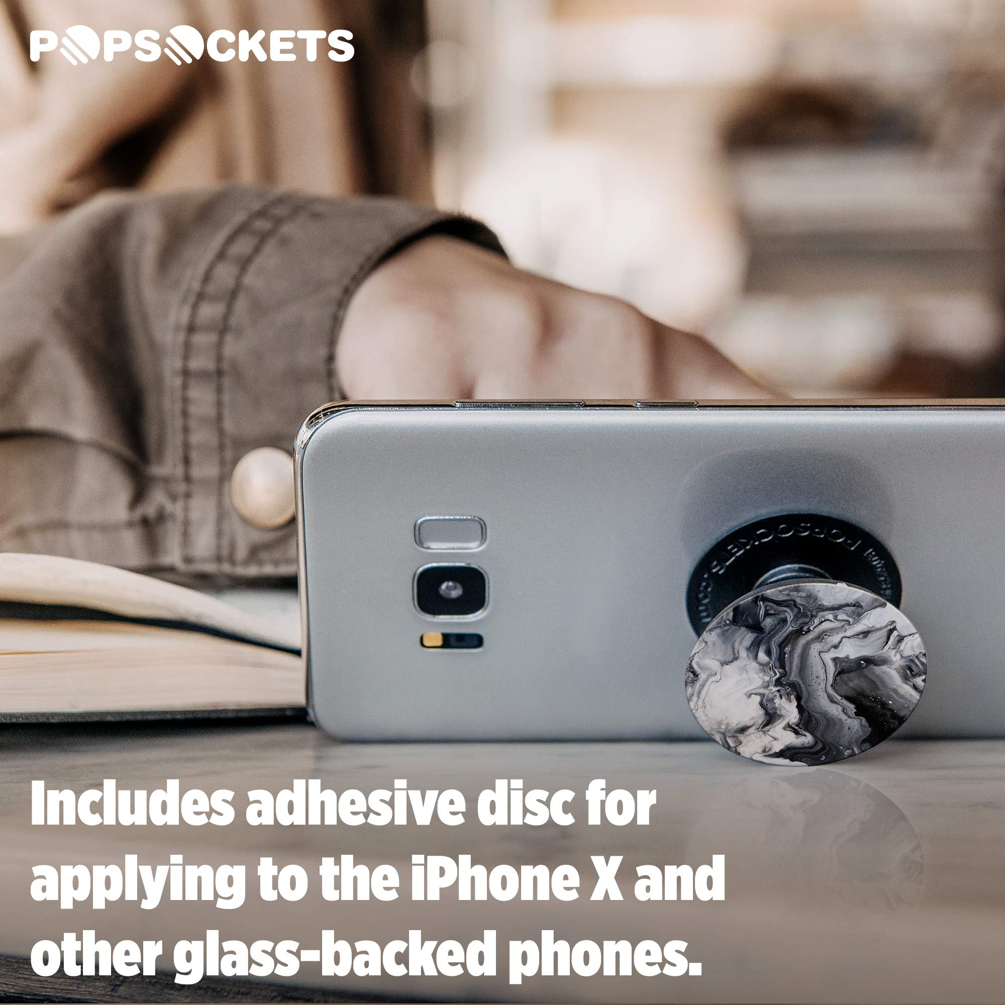 PopSockets: Collapsible Grip and Stand for Phones and Tablets - Ghost Marble by PopSockets (Image #6)