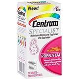 Centrum Specialist Prenatal (28 Count Tablets, 28 Count Softgels) Complete Multivitamin / Multimineral Supplement Tablet, DHA Supplement Softgel, Vitamin D3 and Folic Acid