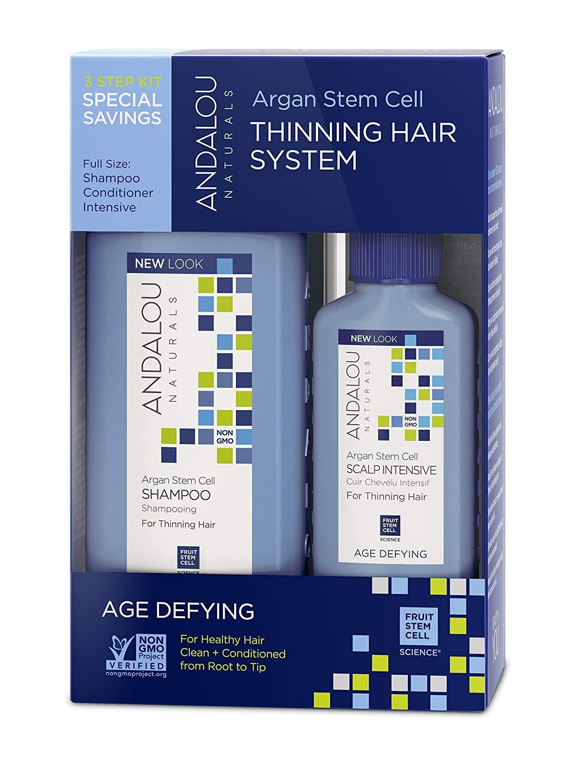 Andalou Naturals Argan Stem Cell Age Defying 3 Step System Kit, 3 Count 70310