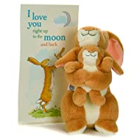 KIDS PREFERRED Guess How Much I Love You 25th Anniversary 9.5 Inch Rabbit Plush with Printed Artwork (95522)