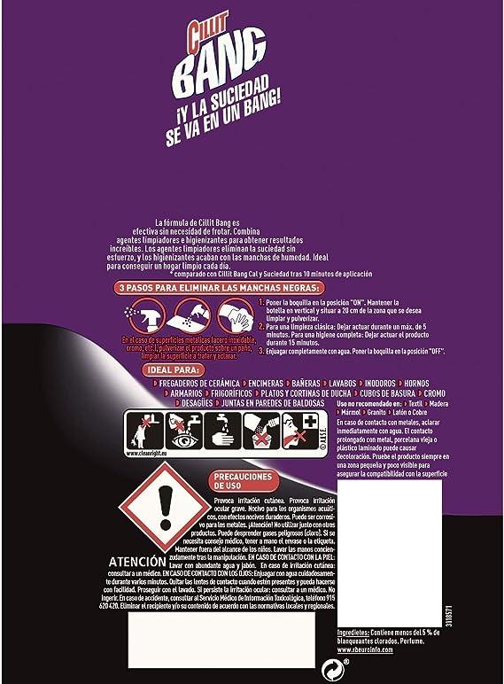 Cillit Bang - Spray Limpiador Suciedad y Manchas de Humedad, para ...