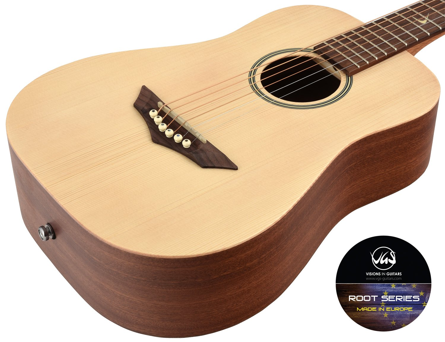 vgs rt de voyage root fabrique en europe mini guitare folk dreadnought