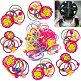 GoProver 50pcs Baby Hair Ties for Kids Toddlers Girls Ponytail Holder Head Bands Ropes Colorful Elastic Headband Accessories