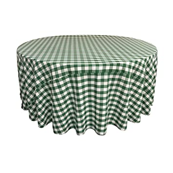 Round Checkered Tablecloth 83, 90, 96, 108 And 120 Round. Multiple Colors