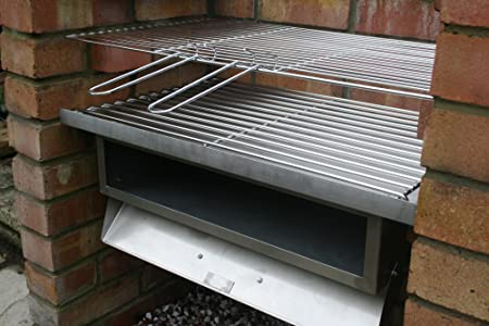 SunshineBBQs Acero inoxidable Barbacoa de ladrillos kit & horno Attachment: Amazon.es: Jardín