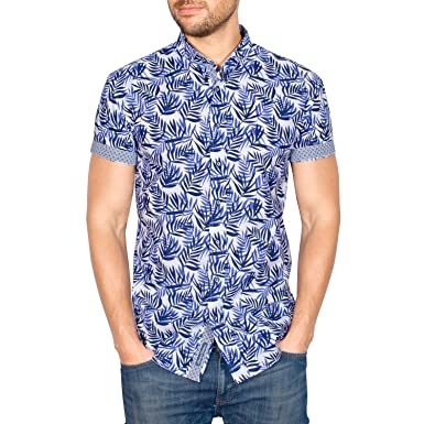 Gocgt Mens Summer Short Sleeve Geometric Print Casual Polo Shirts