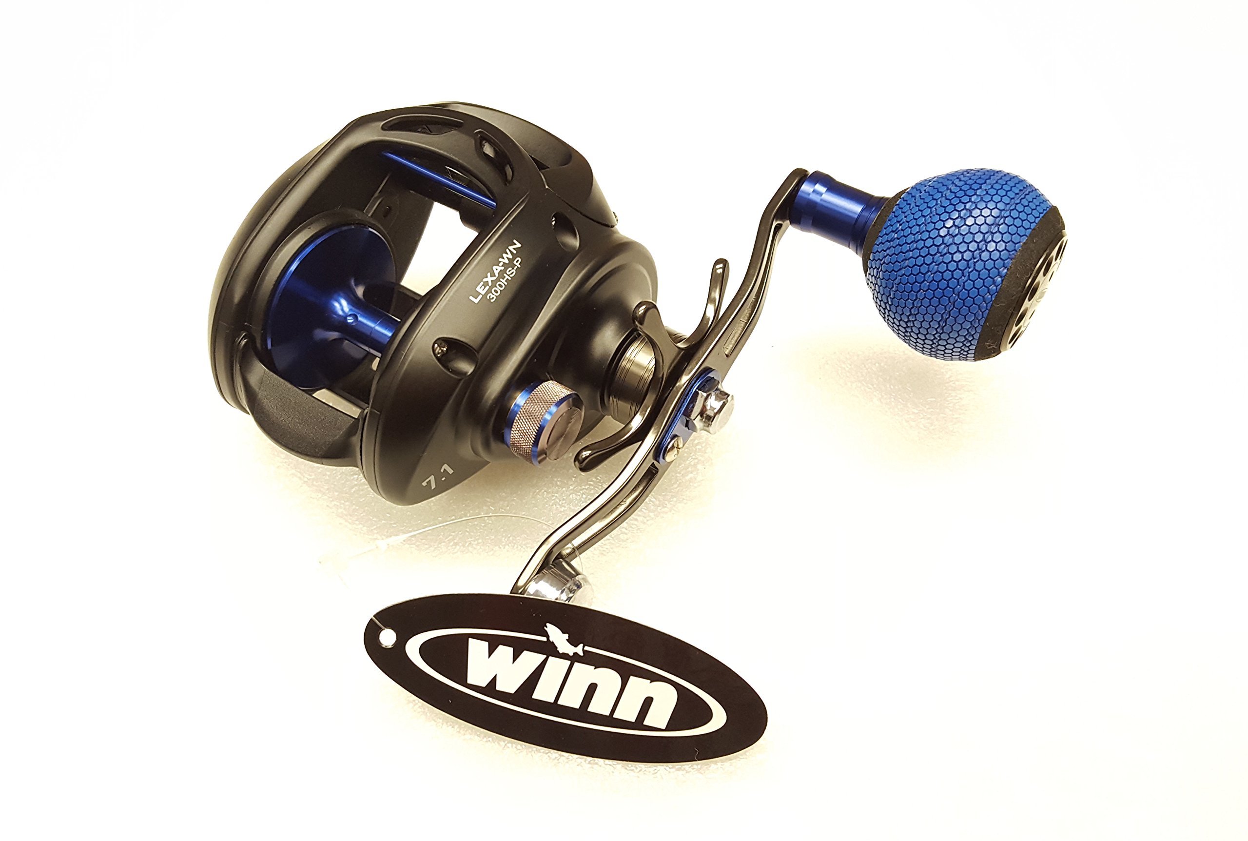 Daiwa LEXA TYPE-WN 7.1:1 Baitcast Right Hand Fishing Reel w/ Power Handle - LEXA-WN300HS-P