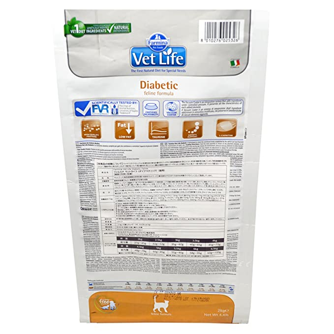 Vet Life diabetic Cat, 1er Pack (1 x 2 kg): Amazon.es: Productos para mascotas