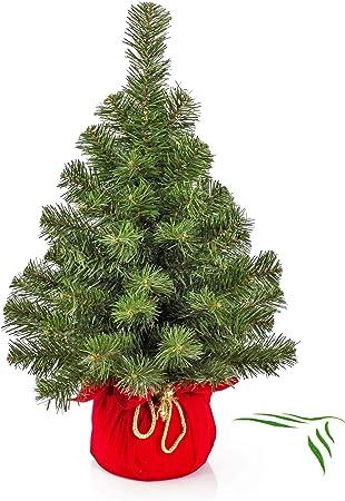 Albero Di Natale 40cm.Artplants De Mini Albero Di Natale Warschau Verde Rosso 60cm O 40cm Albero Di Plastica Abete Di Natale Amazon It Casa E Cucina
