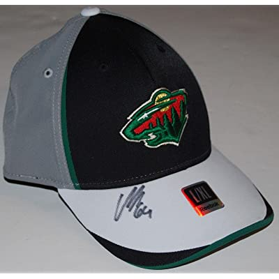 huge selection of d298e bb13a ... coupon code for mikael granlund signed 2010 minnesota wild draft day hockey  cap hat w coa ...