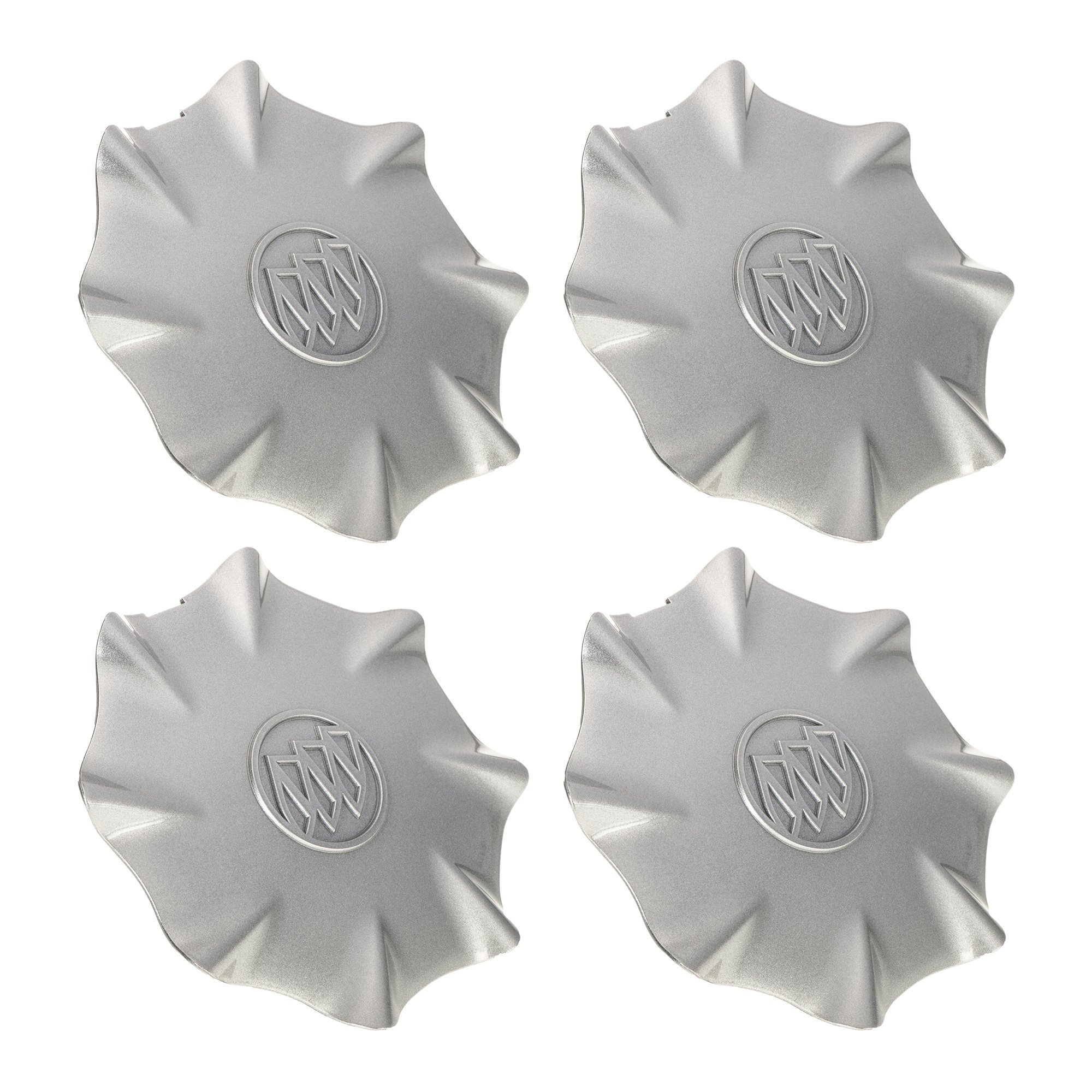 OEM NEW Wheel Hub Center Caps Set Silver w/ Buick Logo 03-04 LeSabre 9594198