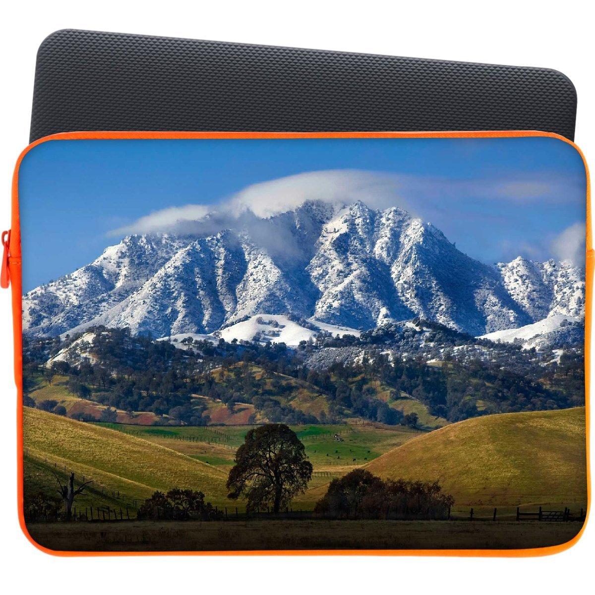 Snoogg Blanco Mountain Top - Funda para portátil de 12