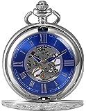 KS Full Hunter 男士机械复古罗马数字标记口袋手表带链
