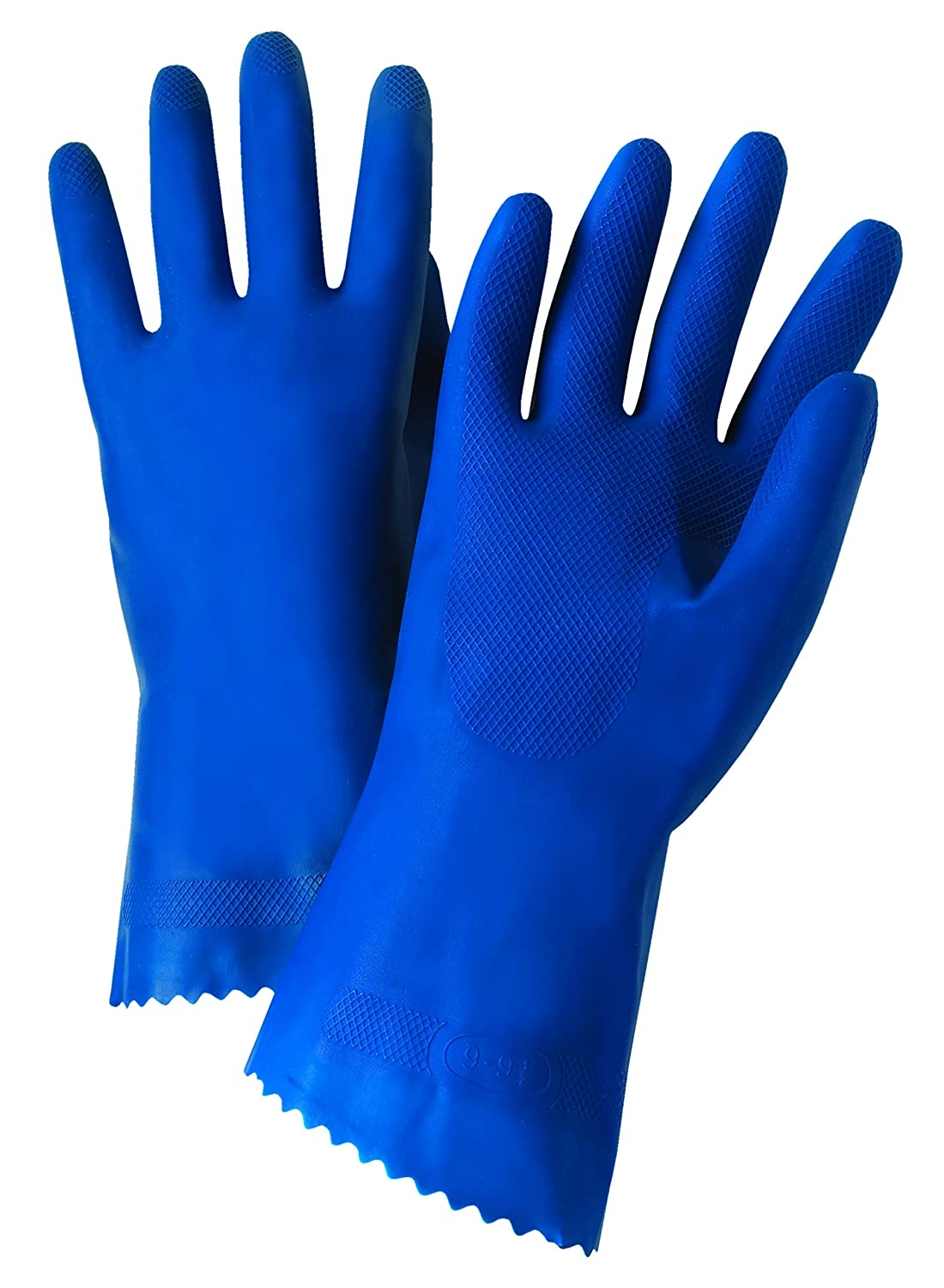 West Chester 52L101 10 Premium Unlined Blue Latex 18 mil 12 Glove Blue Size 10 Pack of 12