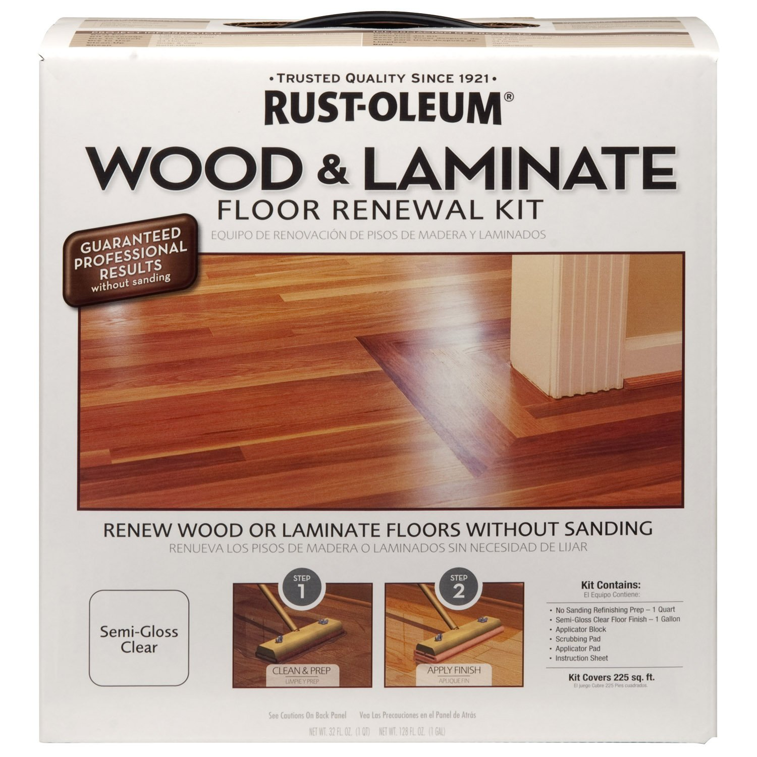 Rust-Oleum 264869 Wood and Laminate Floor Renewal Kit, Paint ...