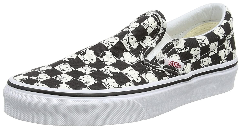 Vans Unisex X Peanuts Slip On Sneaker B06Y6HHYJ9 11 M US Women / 9.5 M US Men|Snoopy Checkerboard