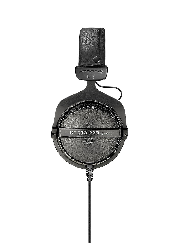 Amazon.com  beyerdynamic DT 770 PRO 250 Ohm Over-Ear Studio Headphones in  black. Closed construction 1fcbb2afb60a9