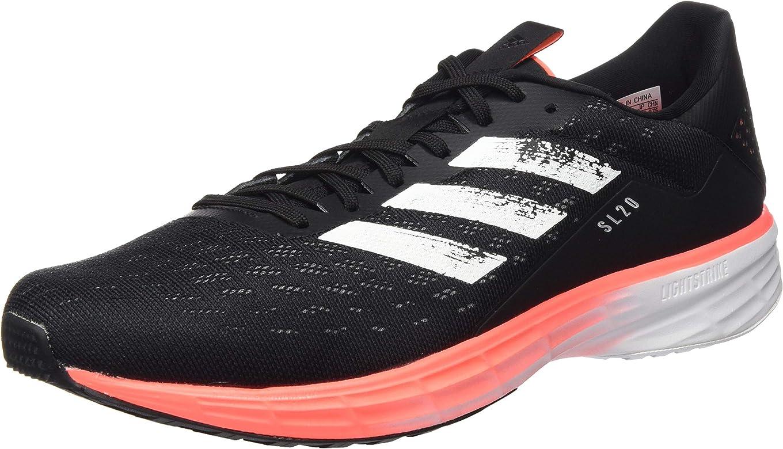 adidas SL20, Zapatillas de Running para Hombre, Core Black/FTWR White/Signal Coral, 44 2/3 EU: Amazon.es: Zapatos y complementos
