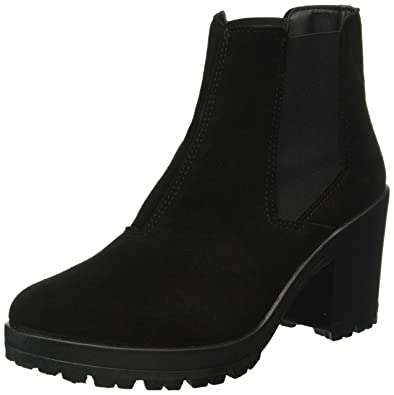 Bianco Damen Wildleder Chelsea 27-48934 Boots, Schwarz (10/Black), 37 EU