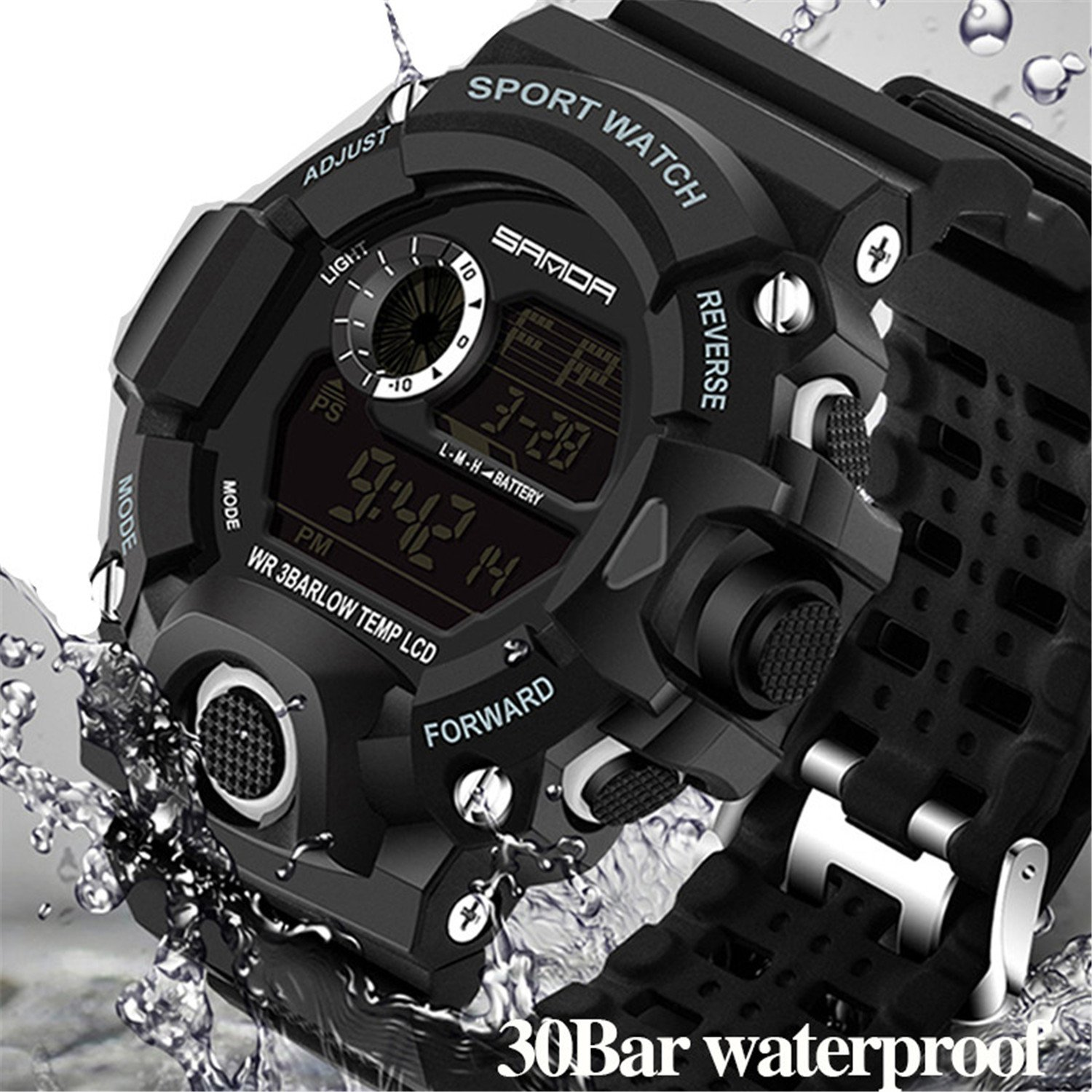 Wdnba Mens Watch Quartz Watch Military Watch Fashion Dive Men's Sport LED Digital Watches by Wdnba