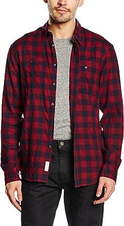 dockers Wrinkle Twill - Camisa Casual de Manga Larga para ...