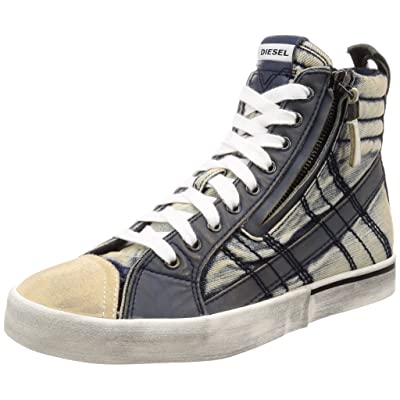 Diesel Men's D-Velows Lace Vintage-Sneaker Mid: Shoes