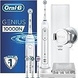 Oral-B Genius 10000N Elektrische Zahnbürste, mit Zahnfleischschutz-Assistent und Premium Reise-Etui, weiß