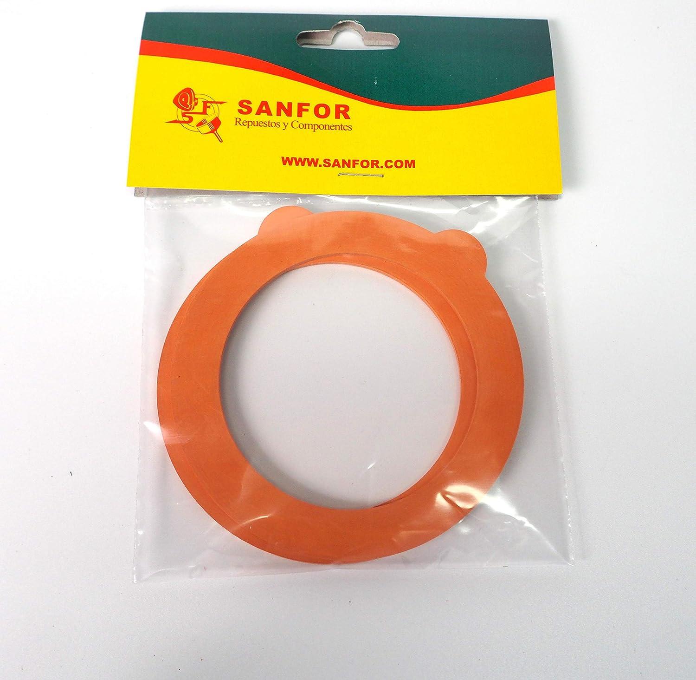 Naranja Talla /única Sanfor 57015 Juntas Tarro de Cristal Caucho